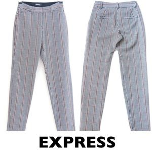 EXPRESS Plaid Publicist Fitted Pants Size 0